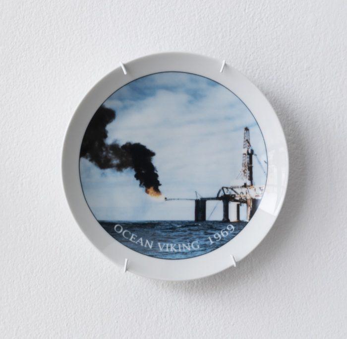 Ocean Viking, Gunhild Vatn, Porcelain plate, 2019